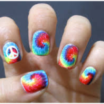 How to Get Groovy Tie Dye Nails